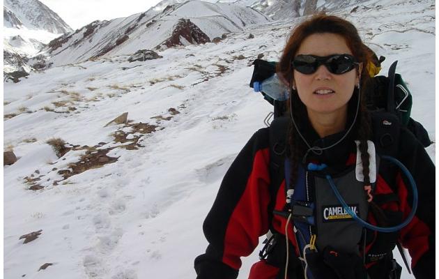 Ana Elisa Boscarioli no Aconcágua em 2003 - Foto: Arquivo pessoal.