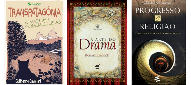 Capas de livros revisados que foram publicados.