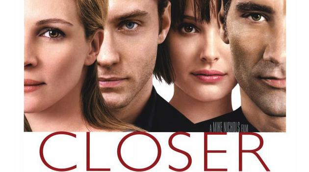 Imagem de divulgação do filme Closer, com Julia Roberts, Jude Law, Natalie Portman e Clive Owen - Foto: Divulgação.
