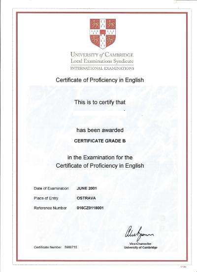 Modelo do certificado (CPE) se o aluno for aprovado no exame - Foto: Reprodução.