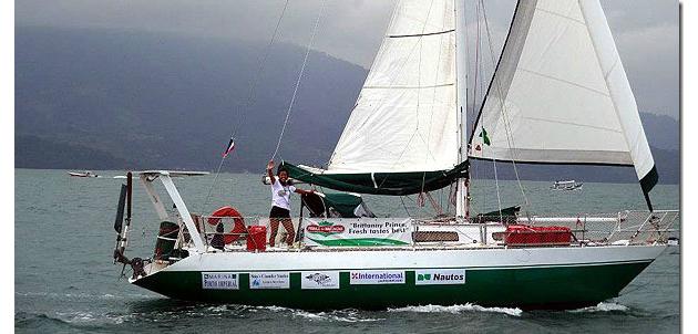 No barco Don, com o qual Izabel Pimentel deu a volta ao mundo - Foto: Reprodução/Marcos Lobo.