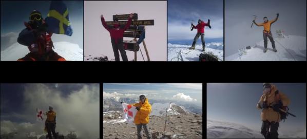 Renata Chlumska no topo dos Seven Summits - Foto: Reprodução You/Tube.