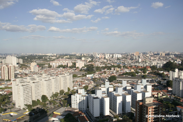 Vista da sacada do apartamento onde eu morava em São Paulo.