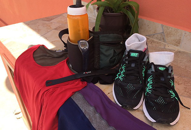Meu kit de corrida na montanha - Foto: Amandina Morbeck.