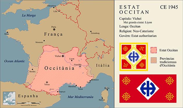 Localização da Occitânia no mapa - Arte: Reprodução/Thasiloron.