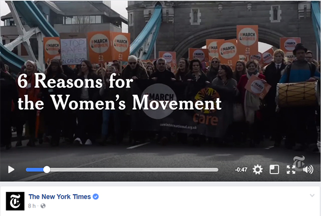 6 motivos para o movimento feminino - vídeo do New York Times.