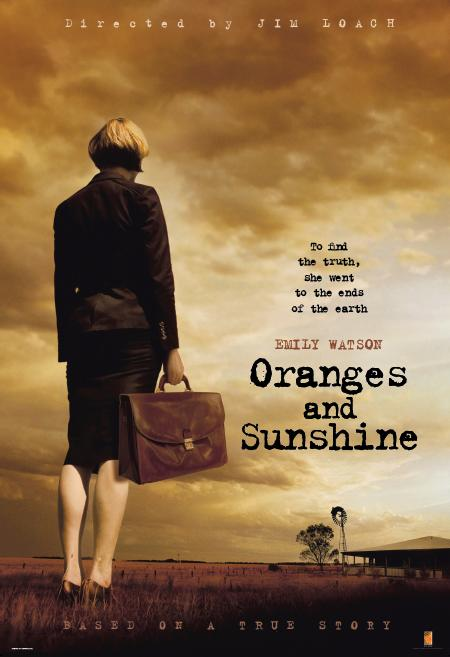 Pôster do filme Oranges and Sunshine, com Emily Watson.