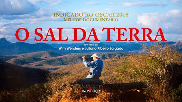 Cartaz do documentário O Sal da Terra - Sebastião Salgado - Reprodução.